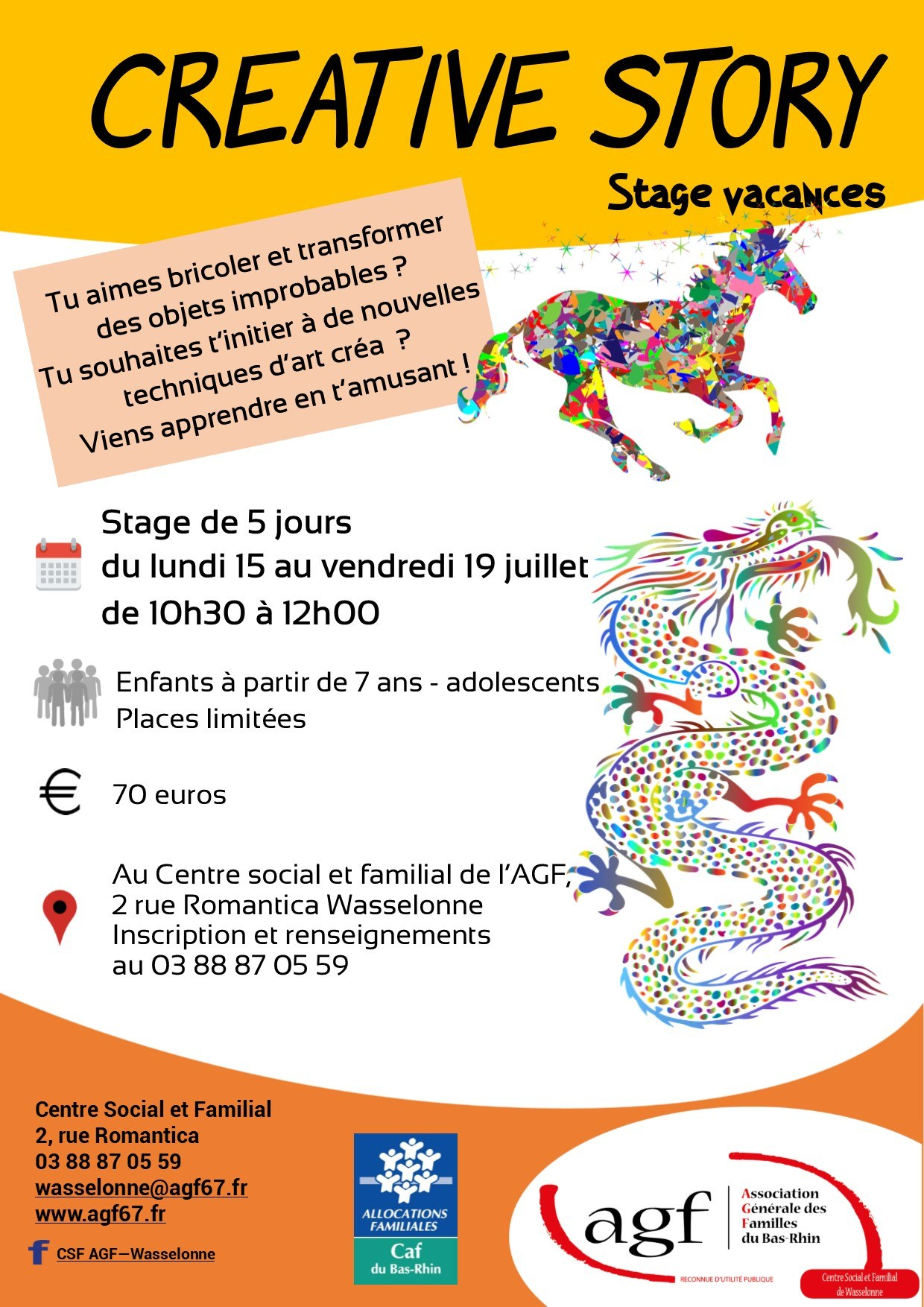 Creative story – stage vacances