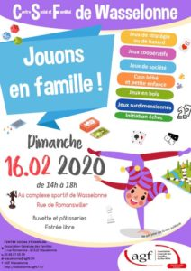 Semaine «On se bouge en Famille»: journée jeux