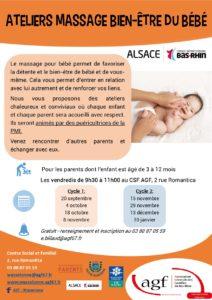 Ateliers massage bien-être du bébé