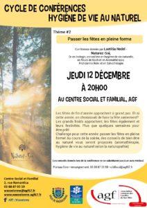Conférence hygiène de vie au naturel: jeudi 12 décembre à 20h