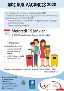 Réunion d'information: aide au départ en vacances